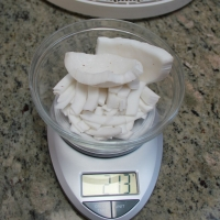 Weigh Coconut - before