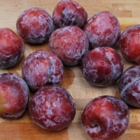 Step 1 - Wash plums