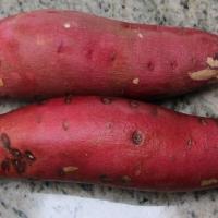 Step 2 - Wash sweet potatoes
