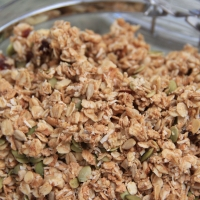 Raw granola - the final product